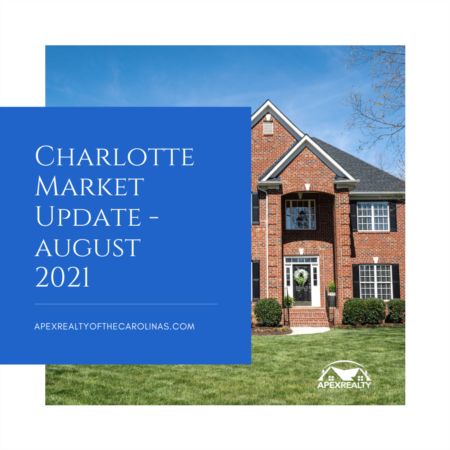 Charlotte Area Market Stats – August 2021   Apex Realty of the Carolinas