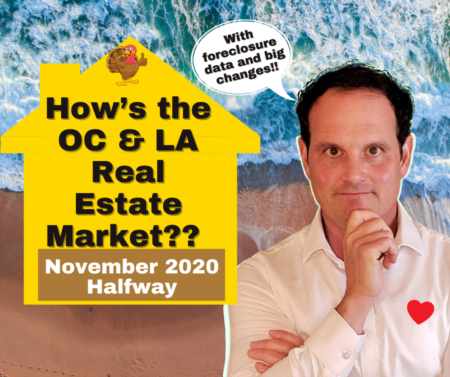 LA & OC Housing Market Update with Foreclosure Data - November 2020 - Halfway