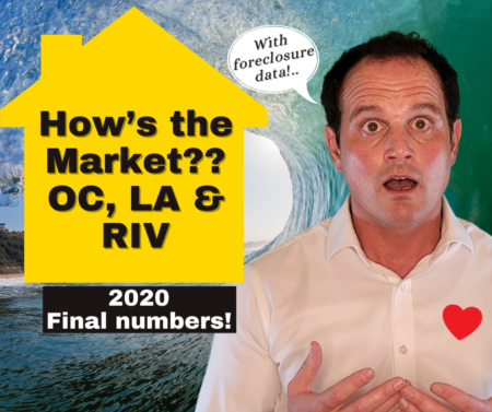 OC, Riverside, LA Housing Market Update with Foreclosure Data - 2020 - Wrap Up!