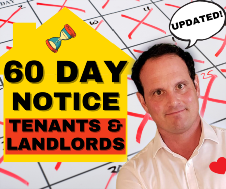 UPDATED! 60 Day Notice to Vacate - Notice to Terminate Tenancy for tenants and landlords