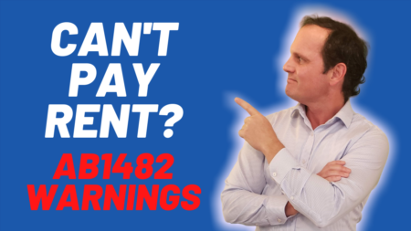 Tenants not paying rent and AB1482 - breaking the law??