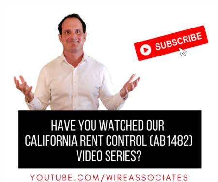 California Rent Control (AB 1482) Video Series!