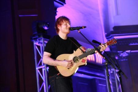 Ed Sheeran Playing Show at Julien B. Lane Park