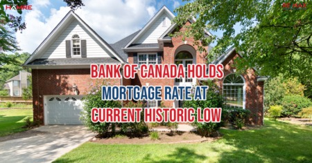 Bank of Canada Holds Mortgage Rate at Current Historic Low