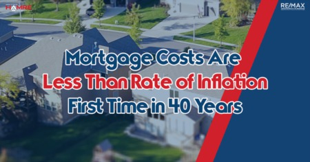 For The First Time in 40 years Mortgage Costs Are Less Than Rate of Inflation