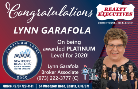 Lynn Garafola Wins NJAR Platinum Level Circle Of Excellence Award!