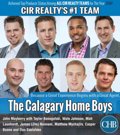 The Calgary Home Boys Named #1 Top Producing Team at CIR in 2016