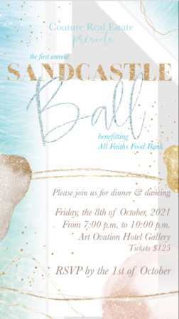 First Annual Sandcastle Ball!