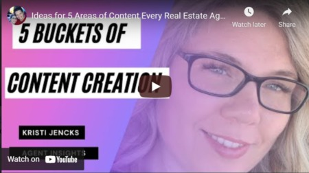 Ideas for 5 Areas of Content Every Real Estate Agent Should Be Creating