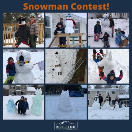 Ridgeline Snowman Contest!