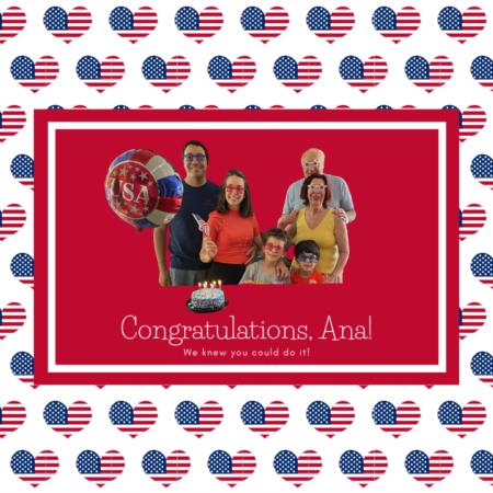Congratulations, Ana!