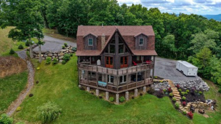 The Barn House Retreat: 356 White Rock Trail in Caldwell, WV 24925