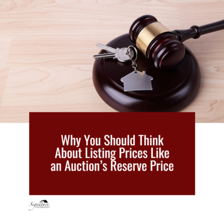 Why You Should Think About Listing Prices Like an Auction's Reserve Price