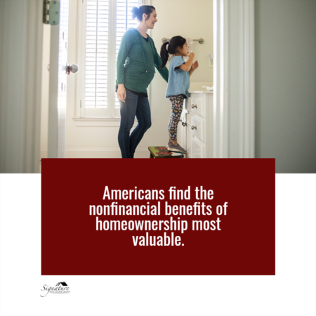 Americans Find the Nonfinancial Benefits of Homeownership Most Valuable