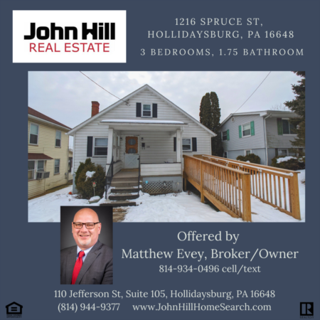 1216 Spruce Street, Lovely 1.5 Story for Sale in Hollidaysburg, PA