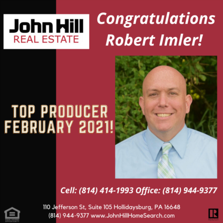 Top Producer, Top Agent February 2021