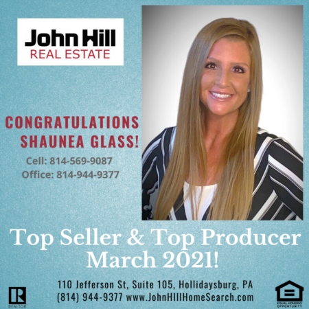 Top Agent, Top Seller & Top Producer for March 2021
