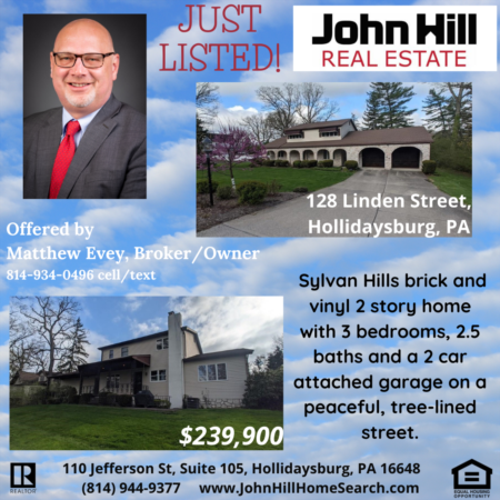 128 Linden Street, Beautiful 2 Story Home in Hollidaysburg, PA