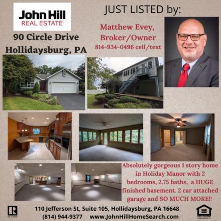 New Listing, 90 Circle Drive, Hollidaysburg PA 16648
