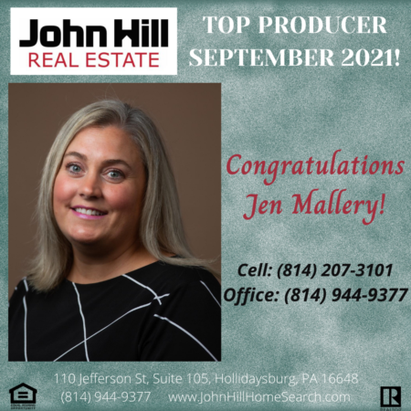 Top Agent for September 2021, Top Producer
