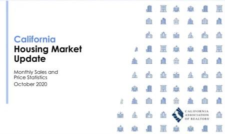 California Housing Market Update - October 2020