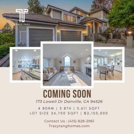 Coming Soon - 173 Lowell Dr., Danville, CA
