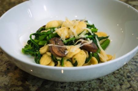 Orecchiette Pasta With Rapini & Mushrooms