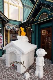Breck Snowflake Challenge: snow sculptures in Breckenridge