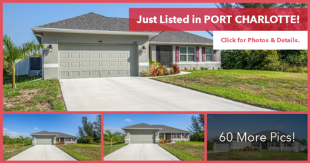 New Listing - Pool Home In South Gulf Cove!