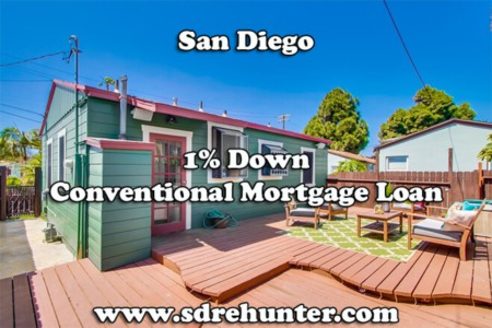 San Diego's #1 1% Down Conventional Home Loan in 2021