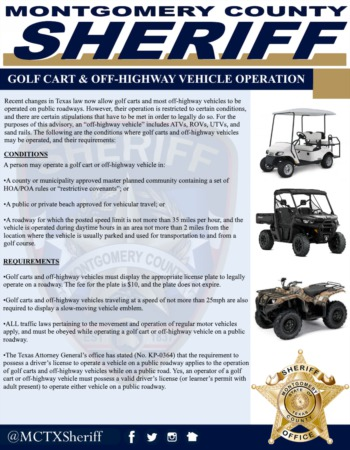 Texas Golf Cart Laws - Recent Changes