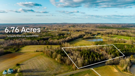 JUST Listed! 6.76 Acre Home Site!