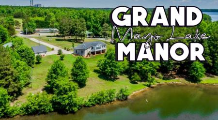 Grand Mayo Lake Manor! Home for Sale on Mayo Lake!