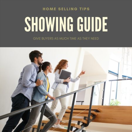 HOME SHOWING TIP: Give buyers as much time as they need