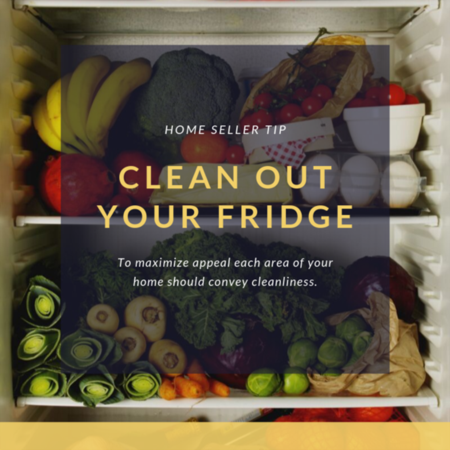 HOME SELLER TIP: Clean out your fridge