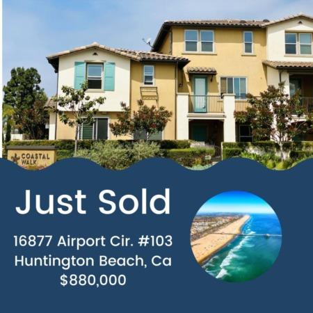 Just Sold! 16877 Airport Cir. #103 Huntington Beach, CA