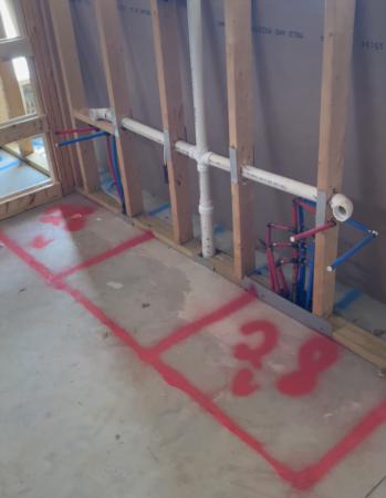 New Construction Walk-Thru: Rough Plumbing, Electric & HVAC Complete