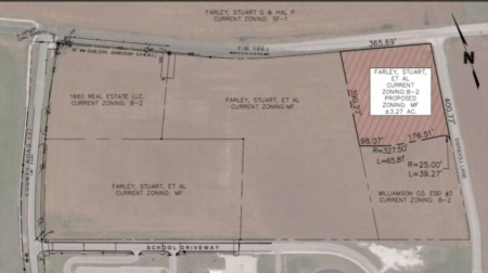 3.27 acres in Hutto rezoned to allow for construction of apartments