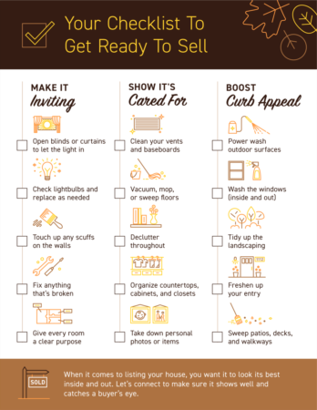 Your Checklist To Get Ready To Sell