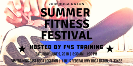 2018 Summer Outdoor Fitness Festival Hosted By F45 Training in Boca Raton