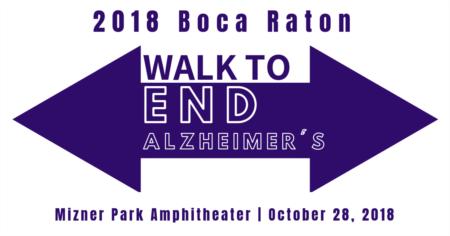 2018 Boca Raton Walk to End Alzheimer's | October 28, 2018