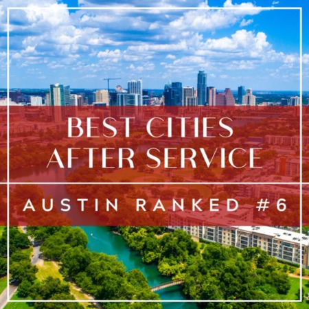 Best Cities After Service: Austin Ranked #6