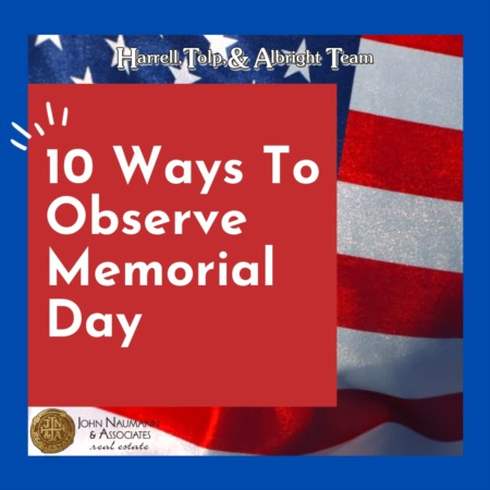 10 Ways to Observe Memorial Day