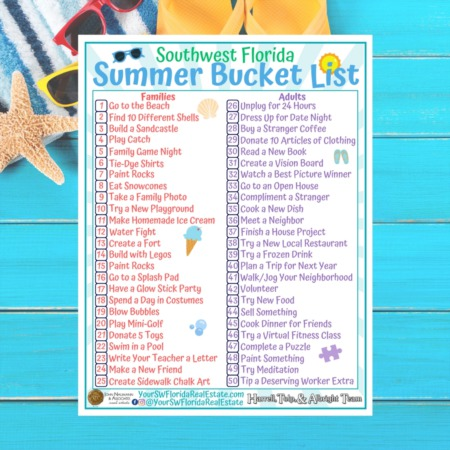 Summer Bucket List for Southwest Florida
