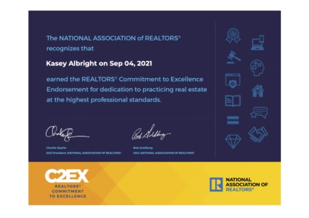 Kasey Albright Makes Commitment to Excellence with C2EX Designation