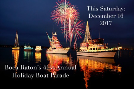 Boca Raton's 41st Annual Holiday Boat Parade