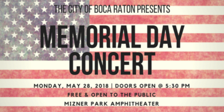 Free Memorial Day Concert | Mizner Park Amphitheater - Boca Raton, FL
