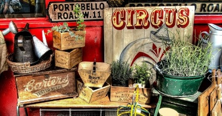 Garage Sales, Flea Markets and Second Hand Treasures