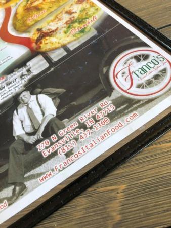 Franco's Italian Food Evansville