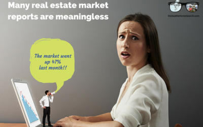 Why many real estate market reports are meaningless.